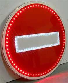 Знак дорожный светодиодный Въезд запрещен - Амониер ООО