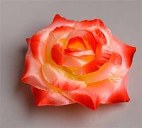 Головка цветочная искусственная Роза большая атлас 24 - ДИШЕР