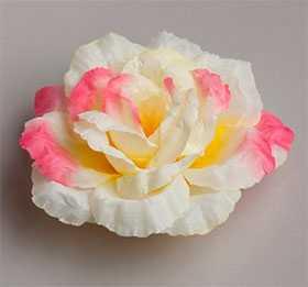 Головка цветочная искусственная Роза большая новая ткань 35 - ДИШЕР