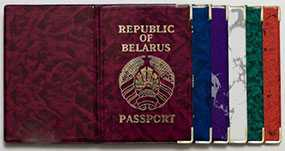 Обложки для паспорта кожзам ПВХ/мрамор/Беларусь - ИТЕРАПЛАСТ БАЛТИК (Беларусь)