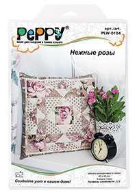 Набор для рукоделия (пэчворк) Peppy PLW-0104 Нежные розы - PEPPY