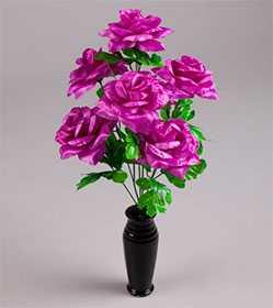 Букет роз больших атласных С74 - ДИШЕР