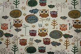 Ткань Гобелен Сова