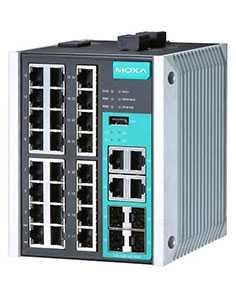 Коммуникатор промышленный EDS-528E-4GTXSFP-LV-T - MOXA