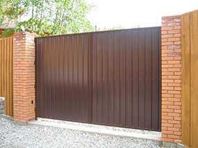 Ворота распашные из профнастила (металлопрофиля), размер 3 × 1,5 м - Эрис УЧПП