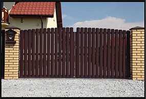 Ворота распашные из металлического штакетника, размер 3 × 1,5 м - Эрис УЧПП