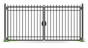 Ворота распашные сварные с элементами ковки, размер 3 × 1,5 м - Эрис УЧПП