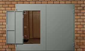 Ворота распашные гаражные, размер 2,5 × 2,5 м - Эрис УЧПП