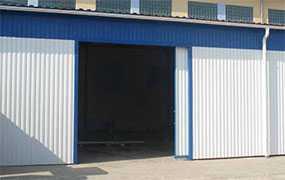 Ворота гаражные откатные, размер 2,5 × 2,5 м - Эрис УЧПП