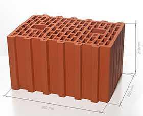 Блок поризованный керамический 10,7 НФ - Braer