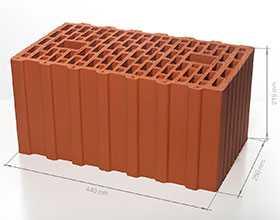 Блок поризованный керамический 12,4 НФ - Braer