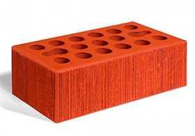 Кирпич облицовочный Красный, бархат 1,4 НФ - Керма