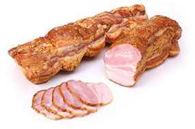 Продукт из субпродуктов мясной копчено-вареный Полоска Домашняя - Брестский мясокомбинат