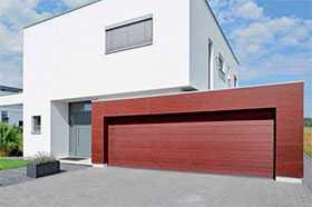 Ворота гаражные секционные стальные двустенные LPU 42 M-гофр Decograin - Hörmann
