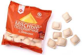 Мясные подушечки С грибами - Брестский мясокомбинат