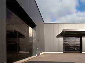 Ворота алюминиевые с остеклением крупногабаритные ALR F42 Glazing - Hörmann