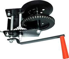 Лебедка ручная барабанная LHW-2500, грузоподъемность 1,0 т, длина троса 20 м
