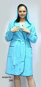 Халат женский с запахом, модель 286 - Линберти