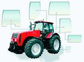 Стекло двери 2522-6708111 для трактора МТЗ