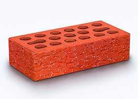 Кирпич облицовочный Russet granite 1 НФ (накатка Кора + посыпка Орех) - Керма