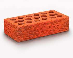Кирпич облицовочный Russet wood 1 НФ (накатка Кора + посыпка Амфиболит) - Керма