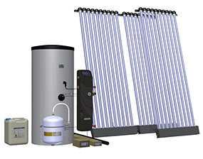 Комплект солнечный (вакуумные коллектор) для нагрева воды (водонагреватель) Hewalex 3 KSR10-250 - Hewalex