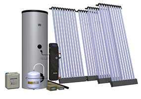 Комплект солнечный (вакуумные коллектор) для нагрева воды (водонагреватель) Hewalex 4 KSR10-300 - Hewalex