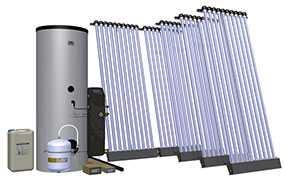 Комплект солнечный (вакуумные коллектор) для нагрева воды (водонагреватель) Hewalex 5 KSR10-400 - Hewalex