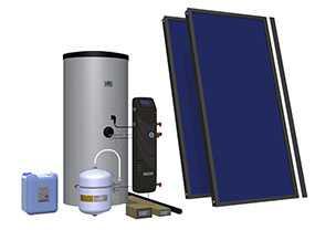 Комплект солнечный (вакуумные коллектор) для нагрева воды (водонагреватель) Hewalex 2 TLPAm-200 - Hewalex