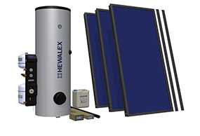 Комплект солнечный (вакуумные коллектор) для нагрева воды (водонагреватель) Hewalex 3 TLPAC-KOMPAKT300HB (KS2100) - Hewalex
