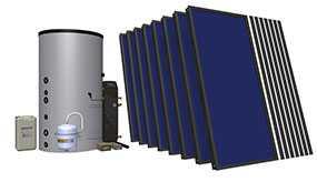 Комплект солнечный (вакуумные коллектор) для нагрева воды (водонагреватель) Hewalex 8 TLPAC-INTEGRA800 (KS2100) - Hewalex