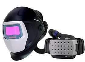 Сварочная маска 3М Speedglas 9100 c респиратором Adflo с автоматическим светофильтром АСФ (хамелеон)