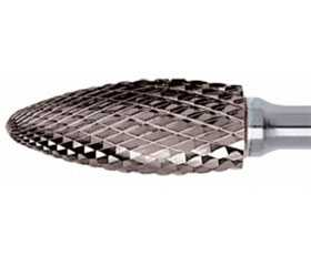 Борфреза твердосплавная MOST H 1020D, Язычок пламени, 10х20х6 мм - MOST