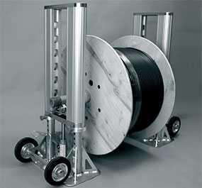 Устройство для размотки (размотчик) барабанов с кабелем гидравлическое до 6000 кг UNIROLLER 900, артикул rol90121 - UNIROLLER