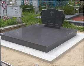 Памятник гранитный двойной с подставкой 100*60
