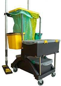 Тележка Мистраль Компакт для влажной уборки и дезинфекции помещений (Беларусь)