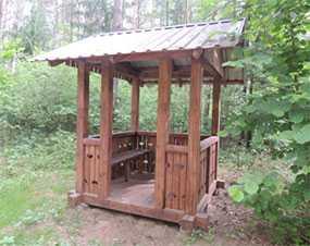 Беседка деревянная Мини - АВТОРИТЕТ ОДО