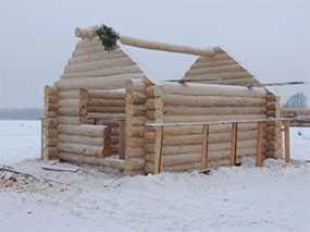 Дом из профилированного бруса проект Баня - АВТОРИТЕТ ОДО