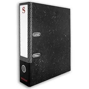 Папка-регистратор SPONSOR, цвет черный мрамор, формат А4
