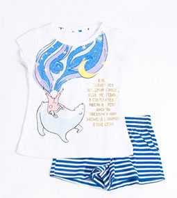 Пижама для девочек (фуфайка, шорты), модель 567717 - МАРК ФОРМЭЛЬ