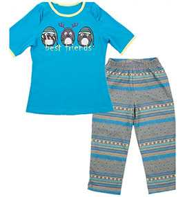 Пижама для девочек (фуфайка, бриджи), модель 567714 - МАРК ФОРМЭЛЬ