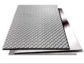 Лист алюминиевый рифленый, сплав GALAXY, 1,5х1200х3000 мм
