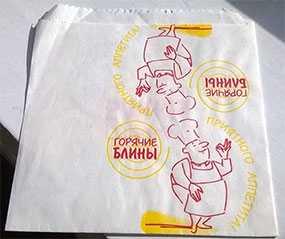 Пакет жировлагостойкий (ЖБ) для блинов 140*150 - Продуктория
