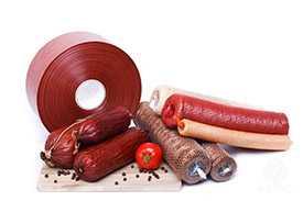 Колбасная оболочка фиброузная ViskoTeepak Fibrous d=70, цвет Red 18 (вишня), Brilliant