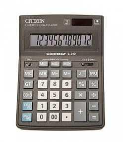 Калькулятор CITIZEN Correct D-314 черный 14-разрядный