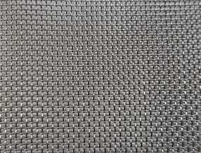 Сетка тканая (ткань техническая) из черной стали ячейка 1,0