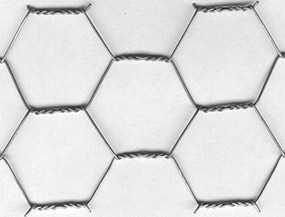 Сетка шестигранная 25,0*1,0*1000*25000, оцинкованная+ПВХ