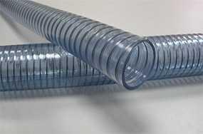 Шланги из ПВХ и полиуретана, армированные стальной спиралью WIRE FOOD