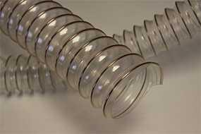 Шланги из ПВХ и полиуретана, армированные стальной спиралью WIRE TPU-R