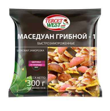 Смесь грибов быстрозамороженная очищенная «МАСЕДУАН ГРИБНОЙ - 1» Масса 300 г
